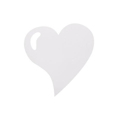 Set de table coeur blanc brillant