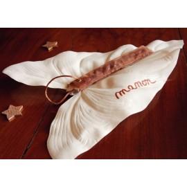 Feuille de Calla Blanc Ivoire en Tissu sur Tige 75 cm
