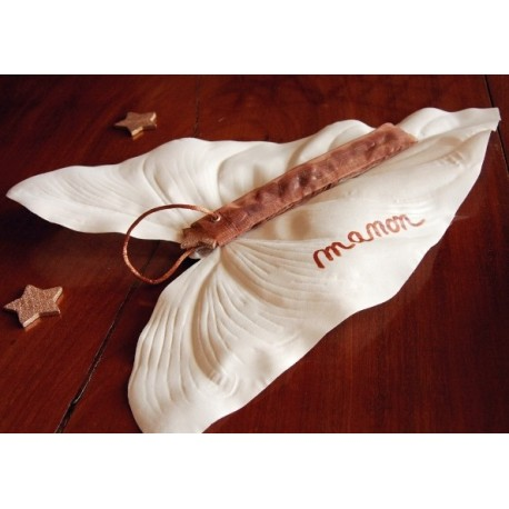 Feuille de calla blanc ivoire en tissu