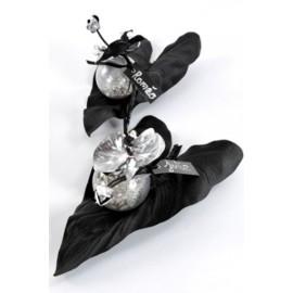Feuille de calla noire sur tige feuille artificielle