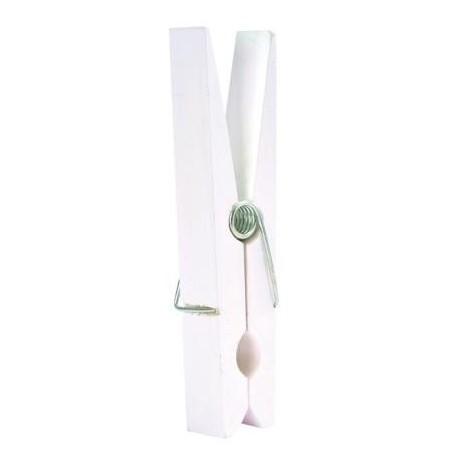 Maxi pince blanche en bois deco 22.5 cm