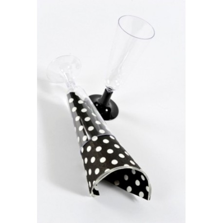 Flûtes à Champagne pied Opaque Transparent les 6