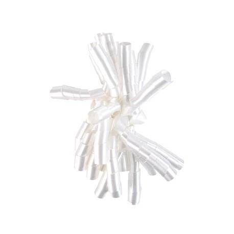 Noeud froufrou blanc de decoration