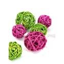 Boule rotin paillettes couleur diametres assortis les 10