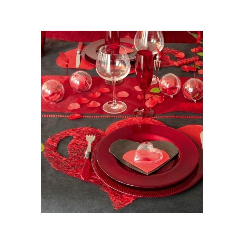 sets de table coeur abaca couleur 38 cm les 4. Black Bedroom Furniture Sets. Home Design Ideas