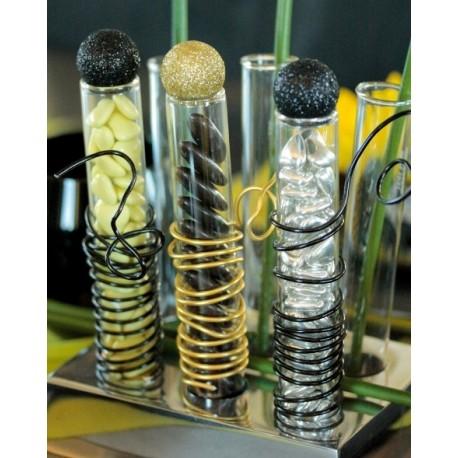 Eprouvette en verre transparent tube a essai