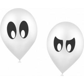 Ballons Fantôme Blanc Halloween les 10 en 2 Modèles