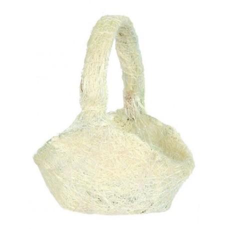 Panier en sisal naturel panier à pétales