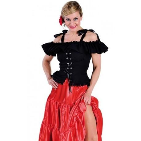 Déguisement Blouse Carmen Noire Deluxe Femme