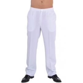 Deguisement pantalon de costume blanc homme