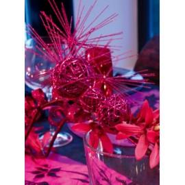Branche Pinus (Pin) Pailletée Couleur Festive 60 cm