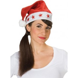 Bonnet de Noël avec étoiles clignotantes adulte