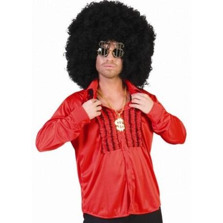 Déguisement Chemise Rouge à Ruches Homme