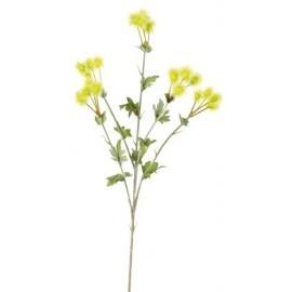 Baies Pompon Vert Déco en Tissu 63 cm (branche de 20 fleurs)