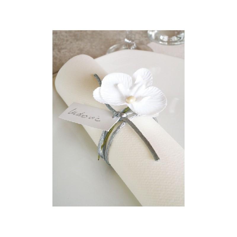 Orchid e blanche sur tige les 6 achat d co de f te for Tige de bois pour decoration