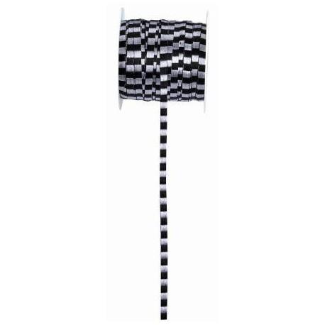 Ruban Cannelé Bicouleurs 50 Mètres - 2 coloris au choix