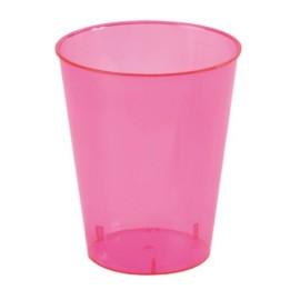 Gobelet fuschia translucide polystyrene cristal les 10