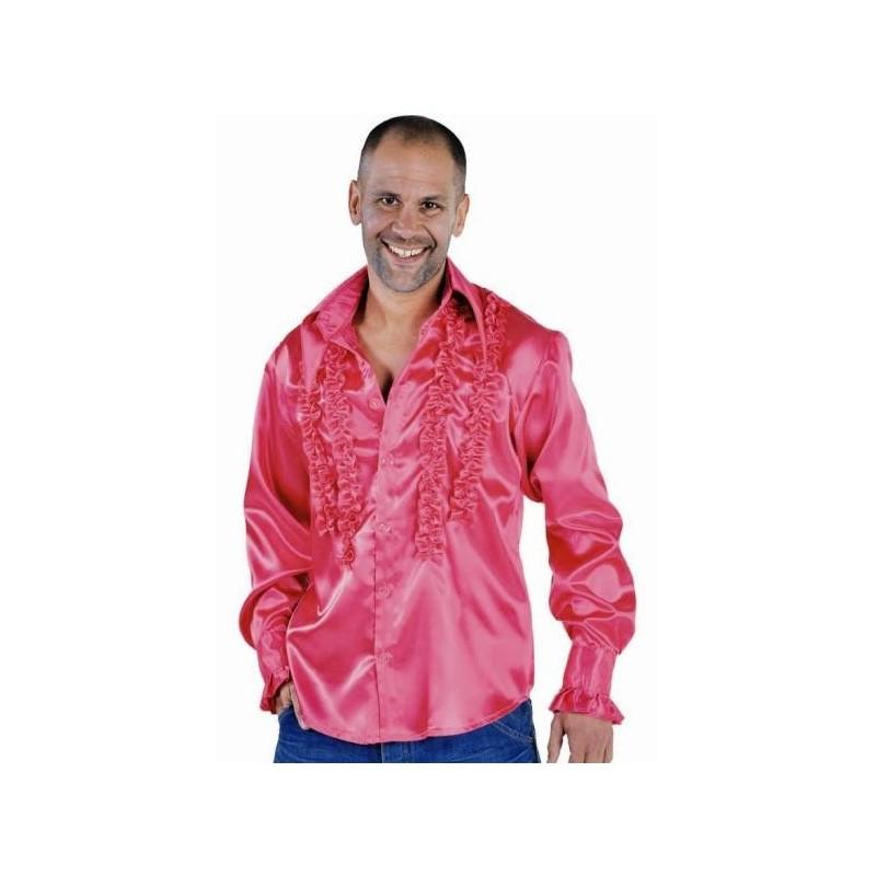 d guisement disco hippie chemise pink rose homme. Black Bedroom Furniture Sets. Home Design Ideas