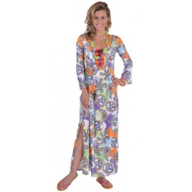 Déguisement Hippie Robe Cool Chic Deluxe 70's Femme