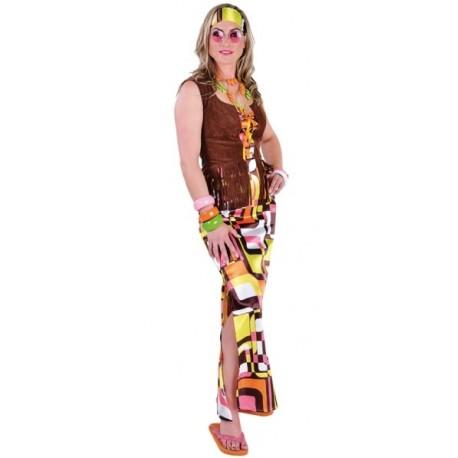 Déguisement Hippie Robe Rétro Chic Deluxe 70's Femme