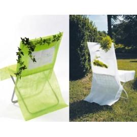 Housse de chaise intissé couleur personnalisable les 10