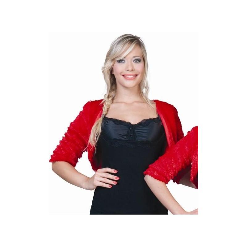 d guisement bol ro rouge femme bol ro fausse fourrure rouge deguise. Black Bedroom Furniture Sets. Home Design Ideas