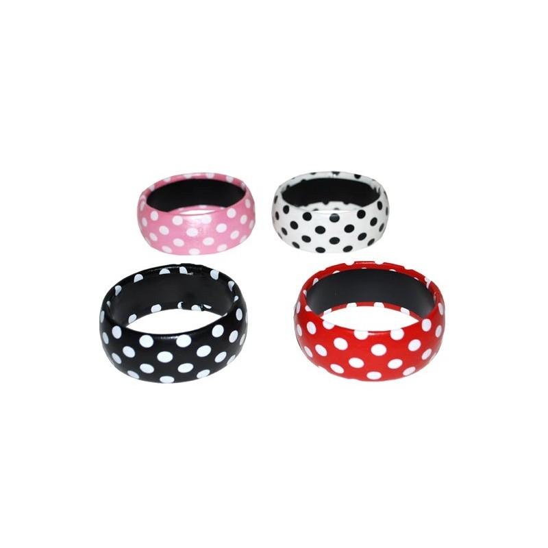 bracelet a pois accessoire ann es 50 60 bijou pois en 4 couleurs. Black Bedroom Furniture Sets. Home Design Ideas