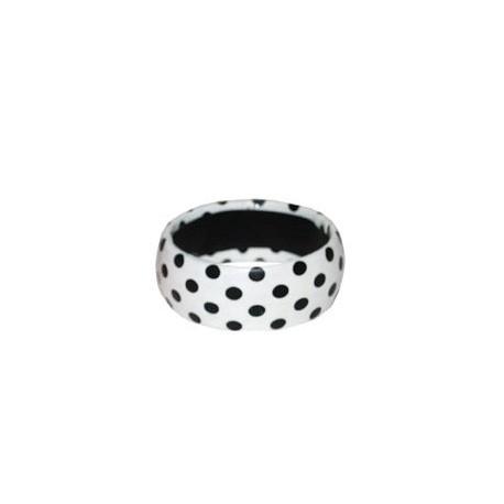 Bracelet blanc A pois noir accessoire annees 50 60 Bijou