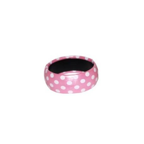 Bracelet rose A pois blanc accessoire annees 50 60 Bijou