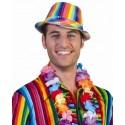 Chapeau borsalino à sequins multicolore adulte