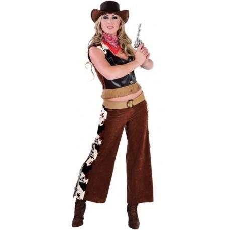 Déguisement Cow-Girl Femme Cowboy Deluxe Adulte