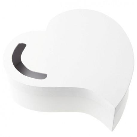Tirelire coeur blanc forme coeur tirelire mariage et fete