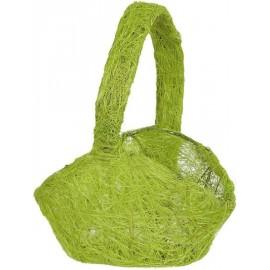 Panier en sisal vert anis