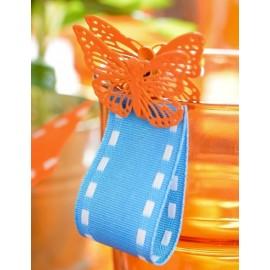 Papillon métal sur pince 3.5 cm les 4 coloris au choix