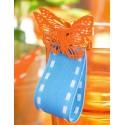 Papillons métal sur pince 3.5 cm les 4 coloris au choix