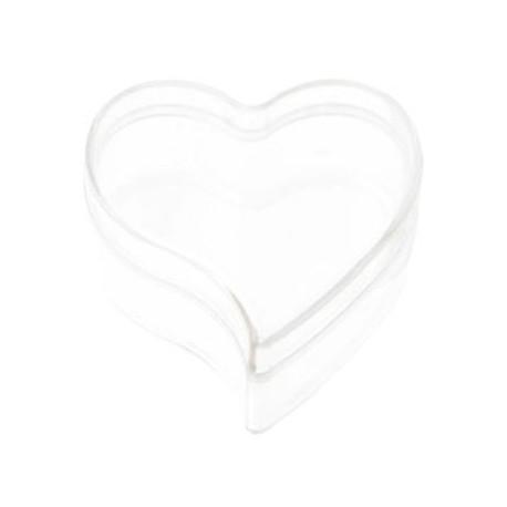 Boite dragees coeur transparent 6 cm les 6