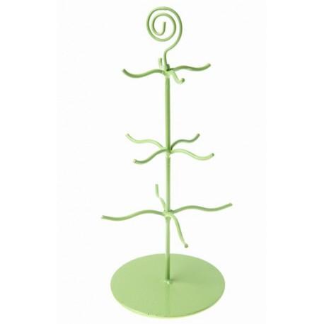 Support à dragées présentoir arbre métal vert