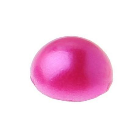 Perle autocollante fuschia demi perle decorative 7 mm les 60