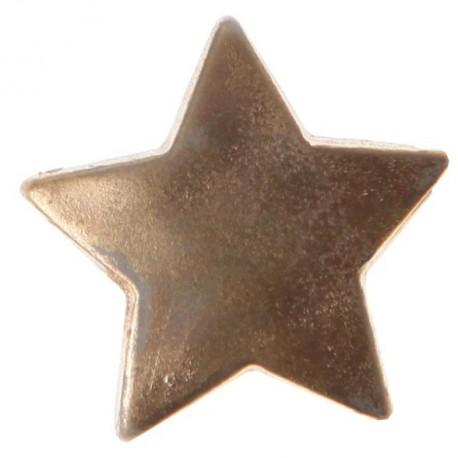 Etoile metallisee or decorative les 12