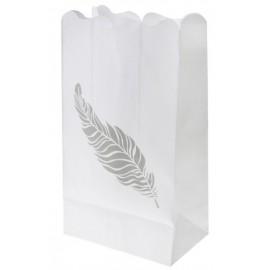Photophore plume sac lumineux en papier ignifuge blanc