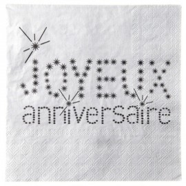 Serviette de table joyeux anniversaire deco table chic design
