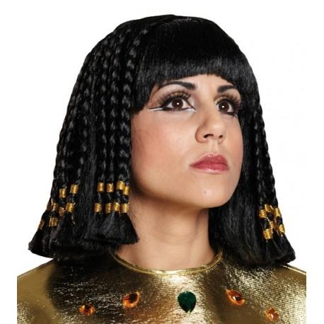Perruque Cléopâtre reine d'Egypte femme luxe