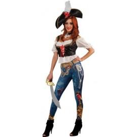 Déguisement pirate femme des 7 mers luxe