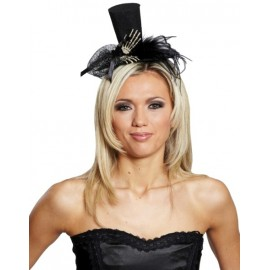 Mini Chapeau Gothique avec Mains Squelette Femme