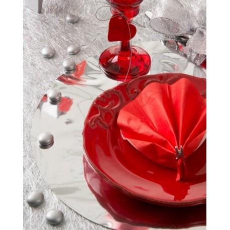 Galet argent de decoration en verre deco de table raffinee