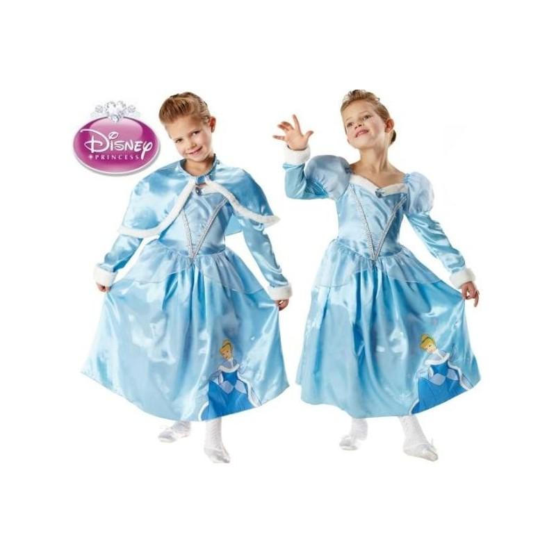 D guisement cendrillon disney princess winter luxe enfant - Deguisement disney enfant ...