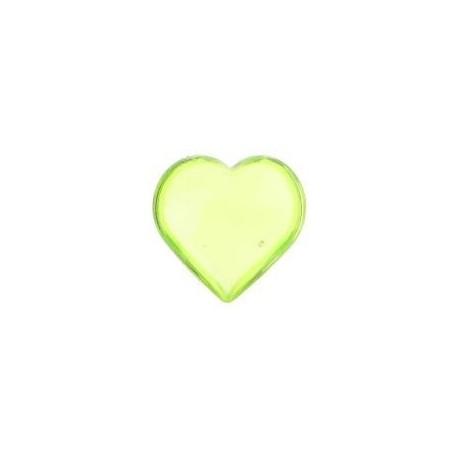 Coeur decoratif vert anis bombe les 12 coeurs