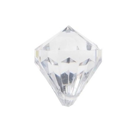 Pampille diamant transparent deco festive les 6
