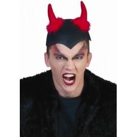 Chapeau Diable avec cornes de Diable adulte et ado