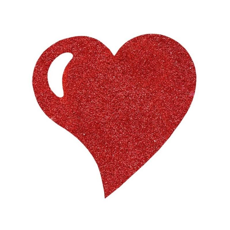 Sets de table coeur rouge paillet 38 cm set de table - Set de table paillete ...